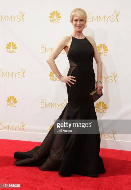 Writer Moira WalleyBeckett attends the 66th Annual Primetime Emmy Awards held at Nokia Theatre LA Live on August 25 2014 in Los Angeles California