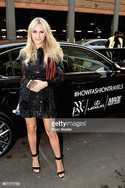 Writer Morgan Stewart at Lexus arrivals New York Fashion Week The Shows September 2016 at The Gallery Skylight at Clarkson Sq on September 9 2016 in...