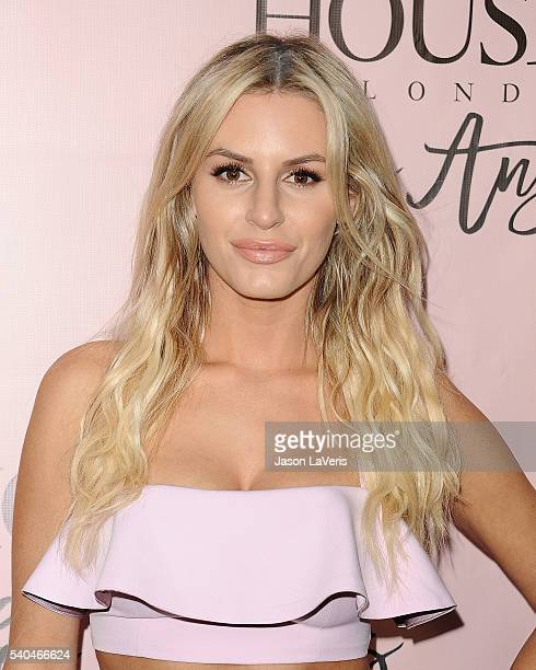 Writer Morgan Stewart attends the House of CB flagship store launch at House Of CB on June 14 2016 in West Hollywood California