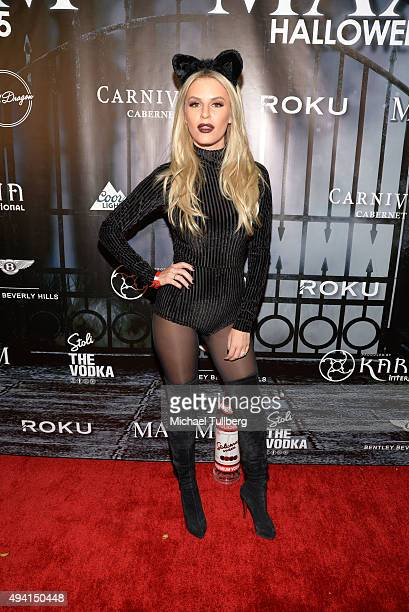 Writer Morgan Stewart attends The Official MAXIM Halloween Party produced by Karma International on October 24, 2015 in Beverly Hills, California.
