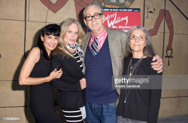 Writer Nancye Ferguson actress Beverly D'Angelo painter Robert Williams and Suzanne Williams attend the Mr Bitchin screening and signing at American...