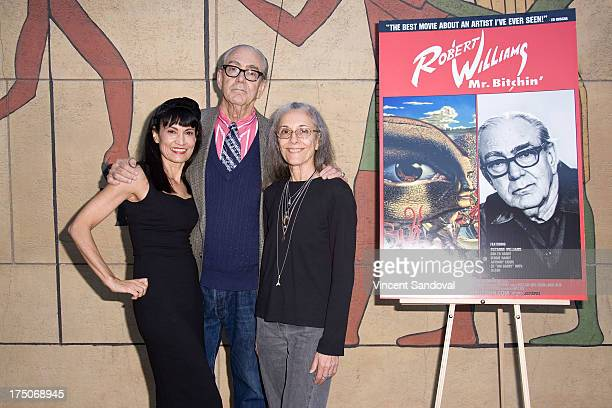 Writer Nancye Ferguson painter Robert Williams and Suzanne Williams attend the Mr Bitchin screening and signing at American Cinematheque's Egyptian...