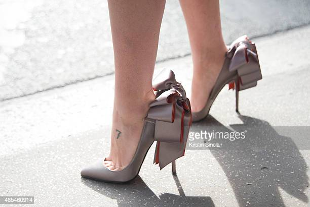 Writer Natasha Goldenberg wears Christian Louboutin shoes on day 4 of Paris Collections Women on March 06 2015 in Paris France