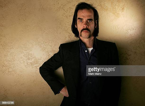 Writer Nick Cave of the film 'The Proposition' poses for a portrait at the Getty Images Portrait Studio during the 2006 Sundance Film Festival on...