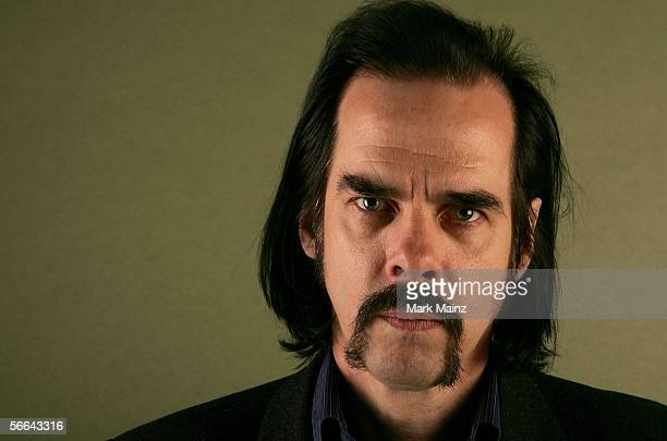 Writer Nick Cave of the film The Proposition poses for a portrait at the Getty Images Portrait Studio during the 2006 Sundance Film Festival on...