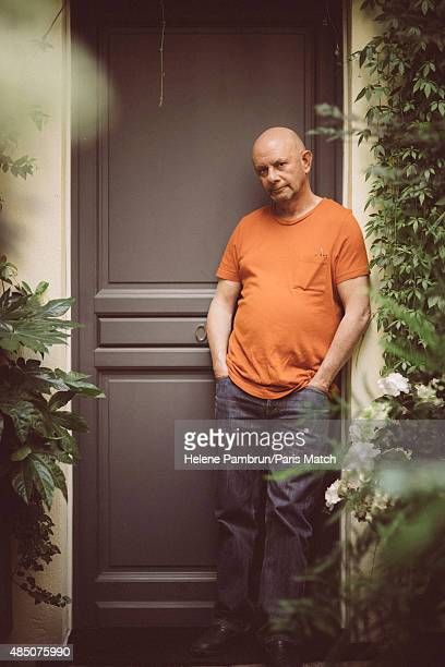 Writer Nick Hornby is photographed for Paris Match on June 17 2015 in Paris France