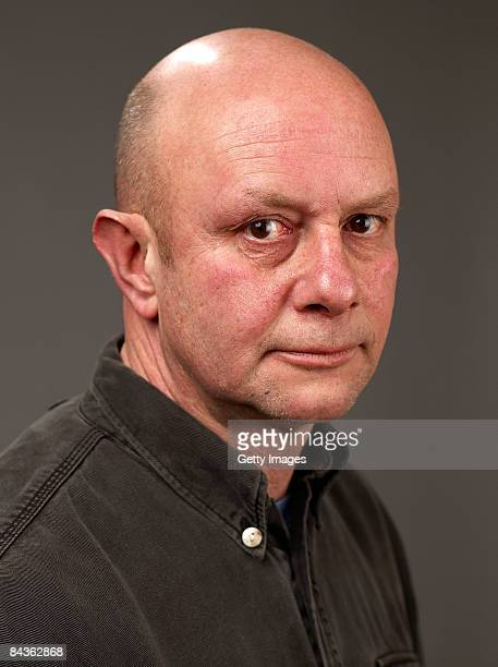 Writer Nick Hornby of the film 'An Education' poses for a portrait at the Film Lounge Media Center during the 2009 Sundance Film Festival on January...