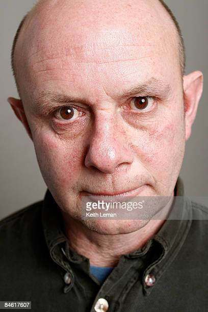 Writer Nick Hornby poses for a portrait during the 2009 Sundance Film Festival held at the Film Lounge Media Center on January 19 2009 in Park City...