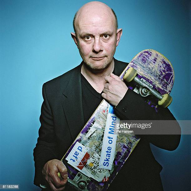 Writer Nick Hornby poses for a portrait shoot for the Observer magazine in London on March 13 2008