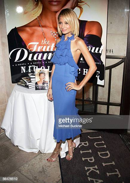 Writer Nicole Richie arrives at the celebration of her novel The Truth About Diamonds at Judith Ripka on December 13 2005 in Los Angeles California
