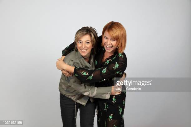 Writer Nicole Taylor and actress Jessie Buckley from 'Wild Rose' are photographed for Los Angeles Times on September 9 2018 in Toronto Ontario...