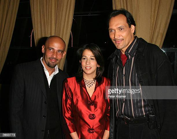 """Writer Nilo Cruz, Deputy Mayor Carol Robles-Roman and actor Jimmy Smits at the New York City Latin Media and Entertainment Commission salutes """"Anna..."""