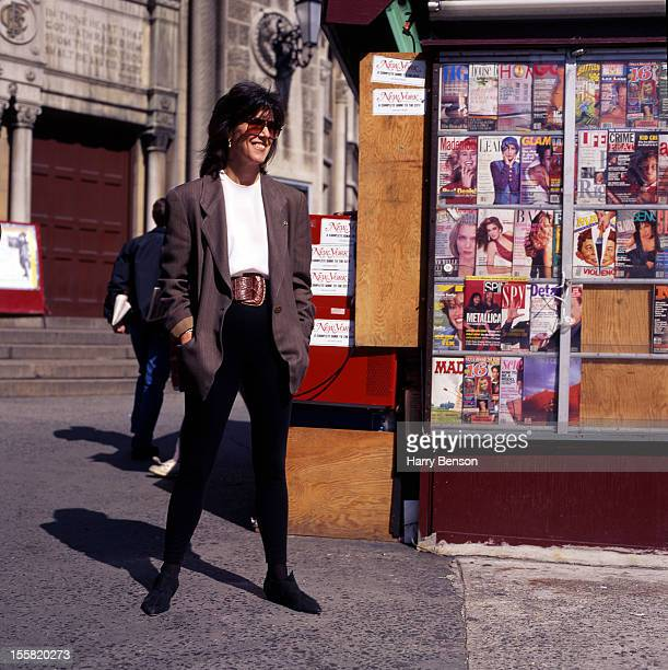 Writer Nora Ephron is photographed for People Magazine in 1991 in New York City.
