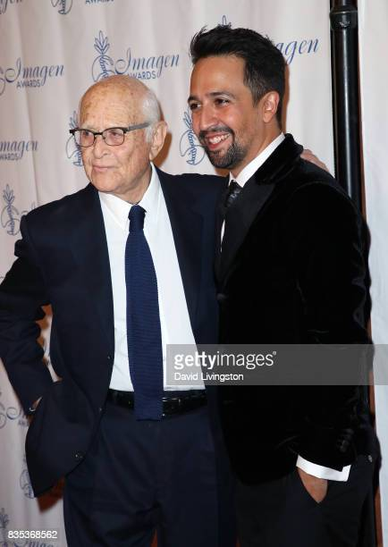 Writer Norman Lear and actor LinManuel Miranda attend the 32nd Annual Imagen Awards at the Beverly Wilshire Four Seasons Hotel on August 18 2017 in...