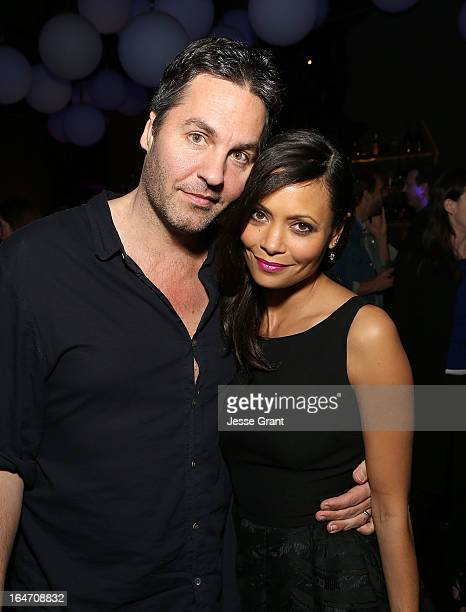 Writer OI Parker and actress Thandie Newton attend the Los Angeles Premiere of 'Rogue' after party on March 26 2013 in Hollywood California