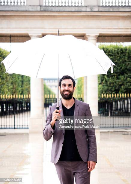 Writer Olivier Liron is photographed for Paris Match on August 29 2018 in Paris France