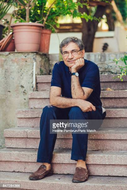 Writer Orhan Pamuk is photographed for Paris Match on July 12 2017 in Istanbul Turkey