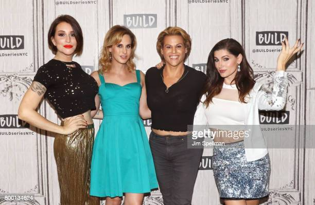 Writer Our Lady J actors Zackary Drucker Alexandra Billings and Trace Lysette attend Build to discuss 'Transparent' at Build Studio on June 23 2017...