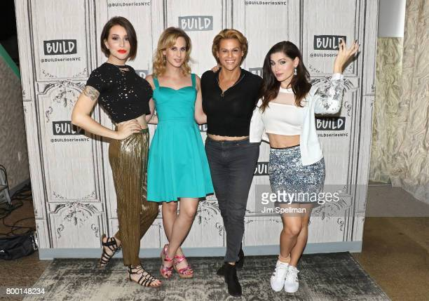 Writer Our Lady J actors Zackary Drucker Alexandra Billings and Trace Lysette attend Build to discuss Transparent at Build Studio on June 23 2017 in...