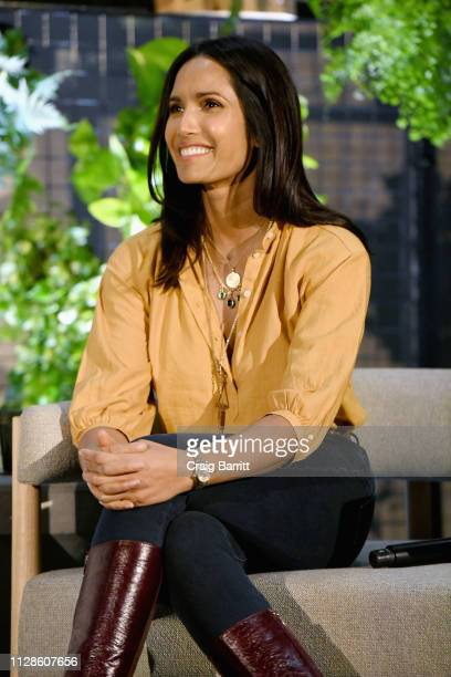 Writer Padma Lakshmi speaks onstage at the How I Get It Done panel during The Cut's How I Get It Done at 1 Hotel Brooklyn Bridge on March 4 2019 in...