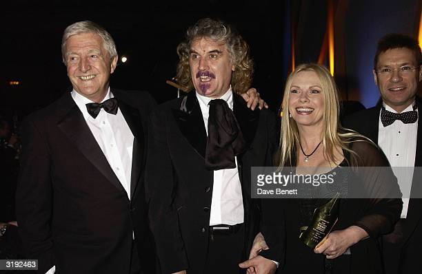 Writer Pamela Stephenson with husband Billy Connolly and Michael Parkinson attend the 2002 British Book Awards on March 5th, 2002 at the Grovesnor...