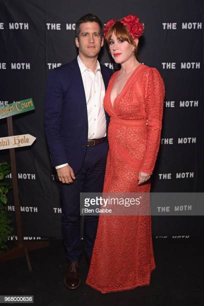 Writer Panio Gianopoulos and actor Molly Ringwald attend The Hatter's Mad Tea Party 2018 Moth Ball at Capitale on June 5 2018 in New York City