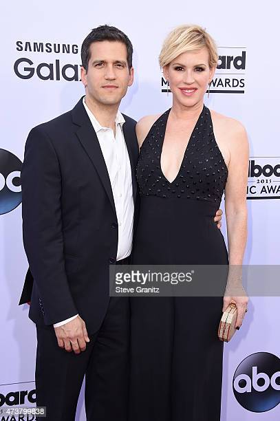 Writer Panio Gianopoulos and actress Molly Ringwald attend the 2015 Billboard Music Awards at MGM Grand Garden Arena on May 17 2015 in Las Vegas...