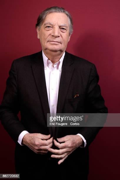 Writer Patrice Duhamel poses during a portrait session in Paris France on