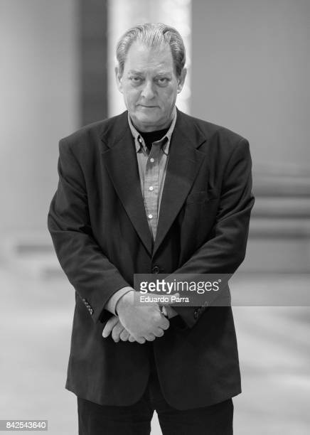 Writer Paul Auster attends a portarit session befeore the '4 2 1' book presentation at Telefonica Foundation on September 4 2017 in Madrid Spain
