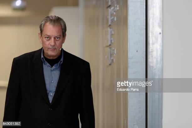 Writer Paul Auster attends the '4 2 1' book presentation at Telefonica Foundation on September 5 2017 in Madrid Spain