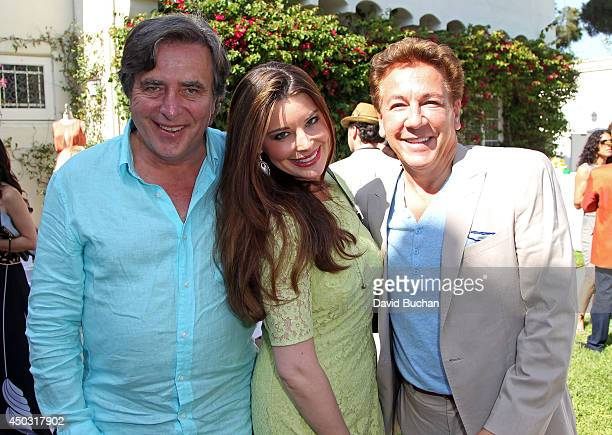 Writer Paul Pender Brianna Deutsch and Ross King attend the BAFTA LA Garden Party at the British Consul General's Residence on June 8 2014 in Los...