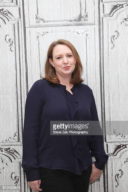 Writer Paula Hawkins attends Build Series to discuss her new movie Girl On The Train at AOL HQ on October 4 2016 in New York City