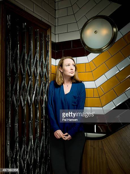 Writer Paula Hawkins is photographed for ES magazine on March 17 2015 in London England