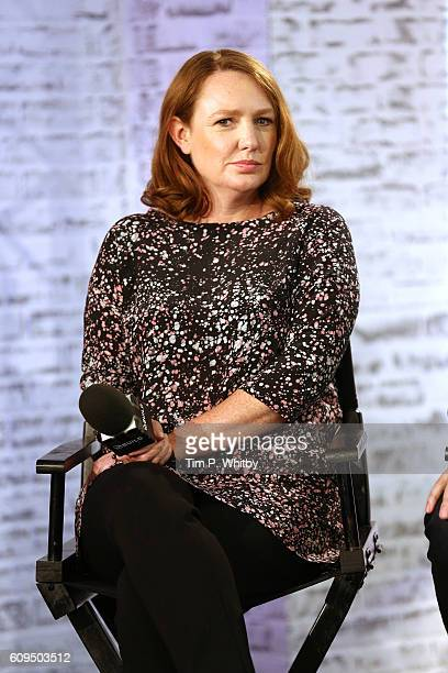 Writer Paula Hawkins takes part in AOL's BUILD series LONDON at AOL London on September 21 2016 in London England