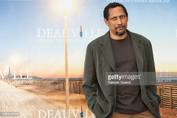 "Writer Percival Everett poses during a photocall after he received the Lucien Barriere Literary Award for his novel ""I Am Not Sidney Poitier"" during..."