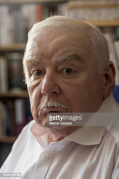 Writer Peter Ackroyd is photographed for Liberation on August 20 2018 in London England