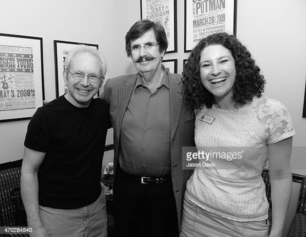 Writer Peter Guralnick Producer Rick Hall and Country Music Hall of Fame Public Programs Manager Abi Tapia arrive at 'The Man From Muscle Shoals Rick...
