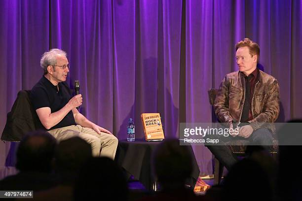 Writer Peter Guralnick speaks with TV personality Conan O'Brien at Sam Phillips The Man Who Invented Rock n Roll A Conversation with Peter Guralnick...