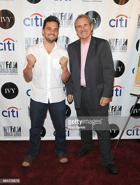 Writer Peter Travers and Jake Johnson attend the New York Film Critics Series screening of 'Digging For Fire' at AMC Empire 25 theater on August 18...