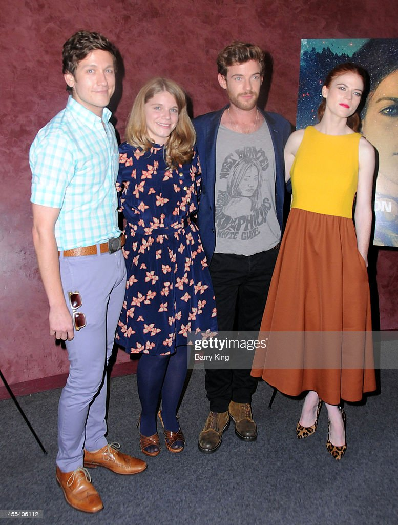 Writer Phil Graziadei, director Leigh Janiak, actor Harry Treadaway and actress Rose Leslie attend the Los Angeles premiere of 'Honeymoon' at the Landmark Theater on August 26, 2014 in Los Angeles, California.