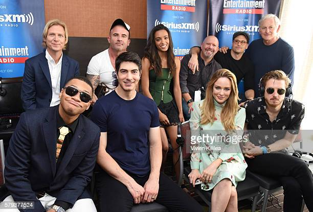 Writer Phil Klemmer actors Dominic Purcell and Maisie RichardsonSellers writer and producer Marc Guggenheim and actors Nick Zano Victor Garber Franz...