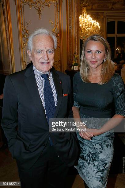 Writer Philippe Labro and CBS Chief Foreign Affairs Correspondent Lara Logan at Laurence Haim Is Honoured With The Insignes De Chevalier De La Legion...