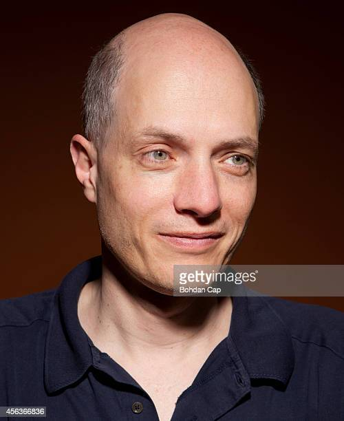Writer philosopher and television presenter is photographed for NZZ am Sonntag on July 17 2014 in London England