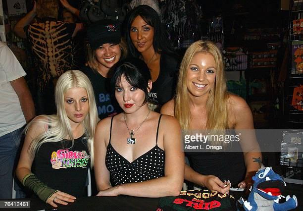 Writer Princes Jolene Hui model Kasey Poteet adult film actress Charlotte Stockley model Molly Gosline and adult film actress Hollie Stevens attend...