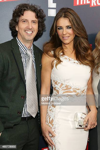 Writer producer and director Mark Schwahn and actress Elizabeth Hurley attend 'The Royals' New York Series Premiere at The Standard Highline on March...