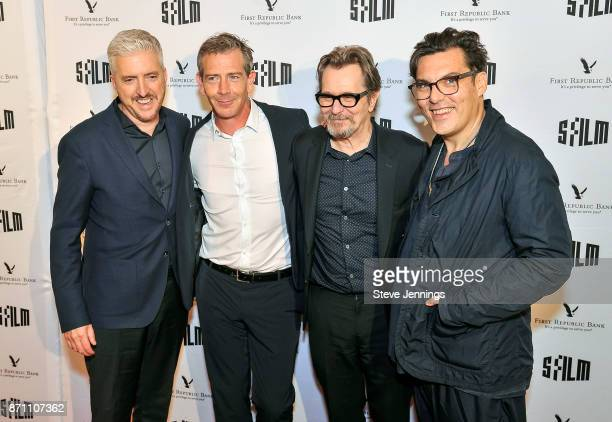 Writer Producer Anthony McCarten Actor Ben Mendelsohn Actor Gary Oldman and Director Joe Wright attend SFFILM SF Honors Award of Darkest Hour at the...