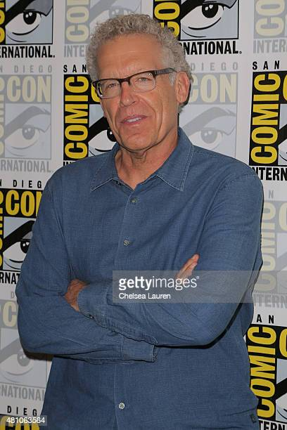 Writer / producer Carlton Cuse attends the 'Colony' press room during day 2 of ComicCon International on July 10 2015 in San Diego California