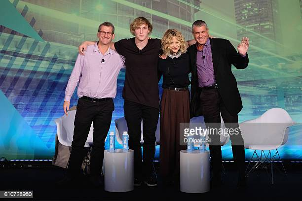 Writer Producer Director Robert Gordon Creator Logan Paul Actress/Director Meg Ryan and EVP Entertainment Ketchum Marcus Peterzell speak at the How...
