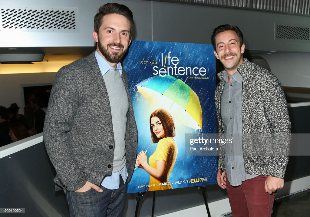 Writer / Producer Richard Keith (L) and Actor Adam Rose (R) attend the screening for the CW's 'Life Sentence' at The Downtown Independent on March 7, 2018 in Los Angeles, California.
