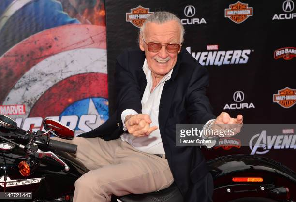 Writer/ producer Stan Lee attends the Los Angeles premiere of Marvel's Avengers at the El Capitan Theatre on April 11 2012 in Hollywood California